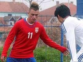 El serbio Dejan Drazic en un partido con las categorías inferiores de su país. CeltaVigo