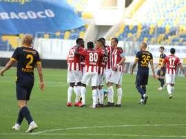 El Sivasspor venció por 0-2 al Ankaragucu. Twitter/SivassporKulubu
