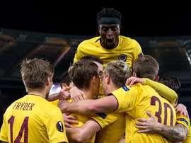 El Sparta de Praga eliminó a la Lazio y dio la sorpresa. ACSpartaPraha