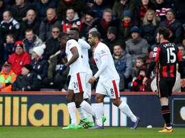 El Stoke City se impuso por 1-3 ante el Bournemouth. Twitter