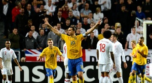 Seven years since Ibrahimovic's poker against England. AFP