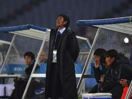 El técnico del Sanfrecce Hiroshima, Hajime Moriyasu. Twitter