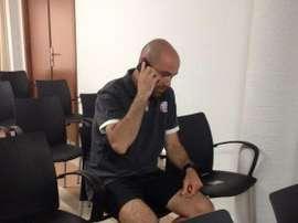 El técnico español Félix Sánchez, al frente de la selección catarí Sub 23. Twitter