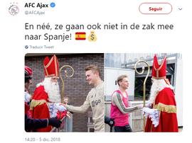 De: Ajax Para: Barça com carinho. Ajax