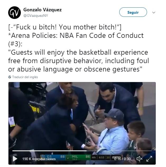 El tweet sobre la NBA Piqué. GonzaloVázquez