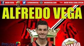 Alfredo Vega, nuevo jugador de Unión Viera. CFUniónViera