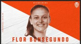 Flor Bonsegundo jugará en el Valencia. Twitter/ValenciaCFFemenino