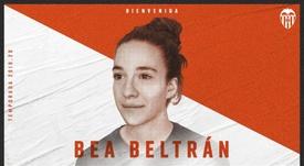 Bea Beltrán, nueva jugadora del Valencia. Twitter/ValenciaCFFemenino