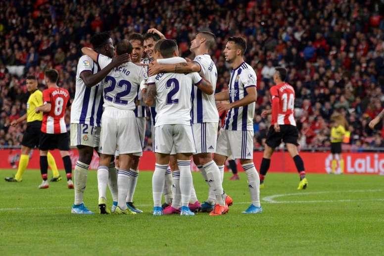 El Valladolid saca un punto de Bilbao. Captura/Movistar