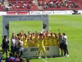 El Villarreal se coronó campeón en la categoría infantil. Twitter