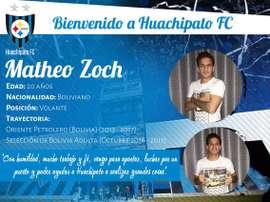 Matheo Zoch, nuevo jugador de Huachipato. HuachipatoFC