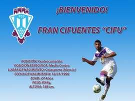 Francisco Cifuentes, Cifu, nuevo jugador del Jumilla. FCJumilla