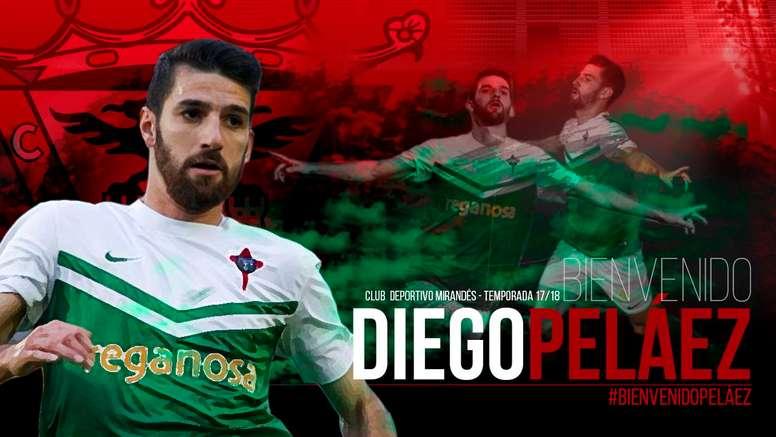 Diego Peláez, nuevo jugador del Mirandés. CDMirandés