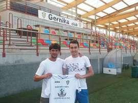 Mikel Murgoitio, nuevo jugador del Gernika. GernikaClub