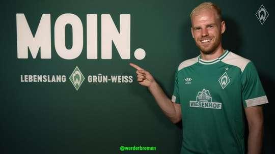 Firma por cuatro temporadas. Twitter/werderbremen