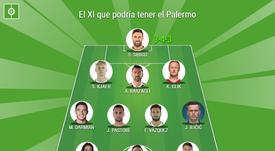 El XI de gala que podría haber formado el Palermo. BeSoccer