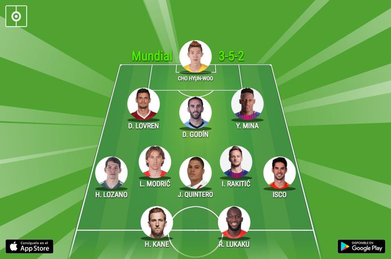 El equipo ideal de la fase de grupos del Mundial. BeSoccer