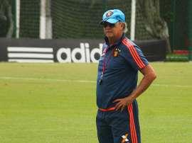 El ya ex técnico del Sport Recife Paulo Roberto Falcao, en un entrenamiento del equipo brasileño. SportRecife