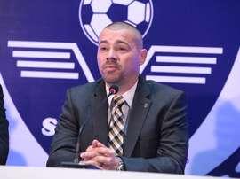 El ya ex técnico del Zeljeznicar bosnio, Milos Kostic, en el momento de ser presentado. FKZelejnicar