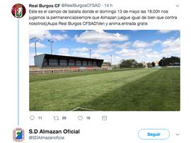 Épico zasca. Twitter/Almazán