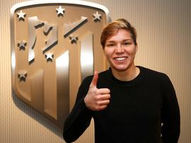 Elena Linari, primer refuerzo del conjunto rojiblanco para la temporada 2018-19. AtléticodeMadridFem