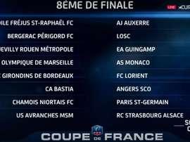 Eliminatórias das oitavas de final da Copa da França 2016-17. Eurosport