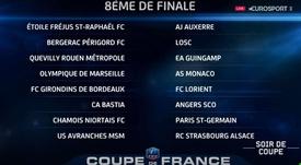 Eliminatorias de los octavos de final de la Copa de Francia 2016-17. Eurosport