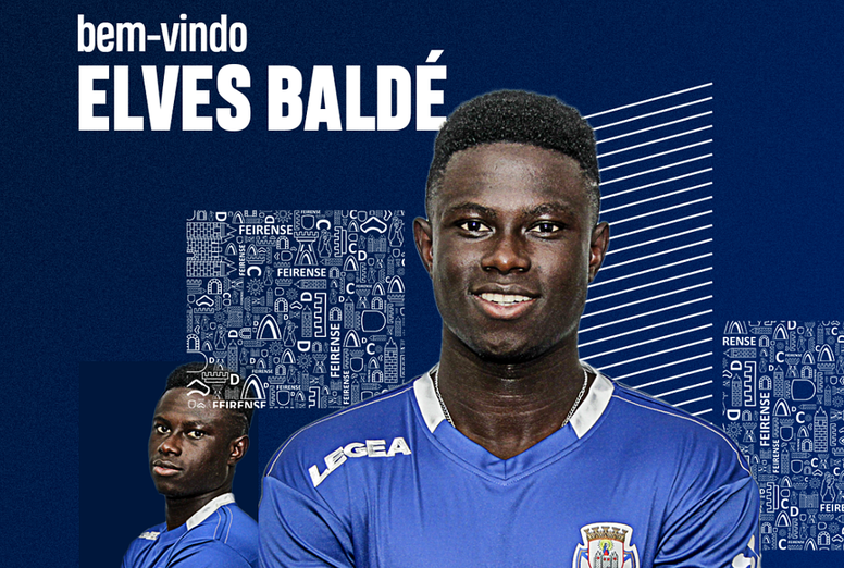 Elves Baldé, prêté à Feirense. Twitter/Feirense