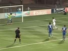 Elvin Mämmädov from Qarabag misses a penalty on purpose. Twitter