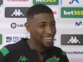 Emerson, heureux pour son but et sa sélection avec le Brésil. Capture/RealBetis
