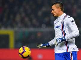 Audero restera à la Sampdoria.  Twitter/Sampdoria