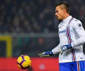 Audero ya es de la Sampdoria. Twitter/Sampdoria
