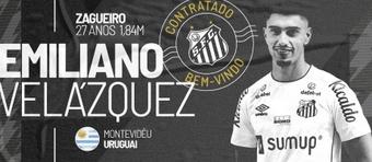 Emiliano Velázquez jugará en Santos hasta diciembre de 2022. Captura/SantosFC