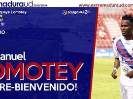 Lomotey jugará la próxima temporada con el Villarreal. ExtremaduraUD