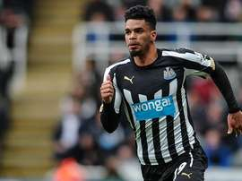 Riviere in action for Newcastle. NUFC