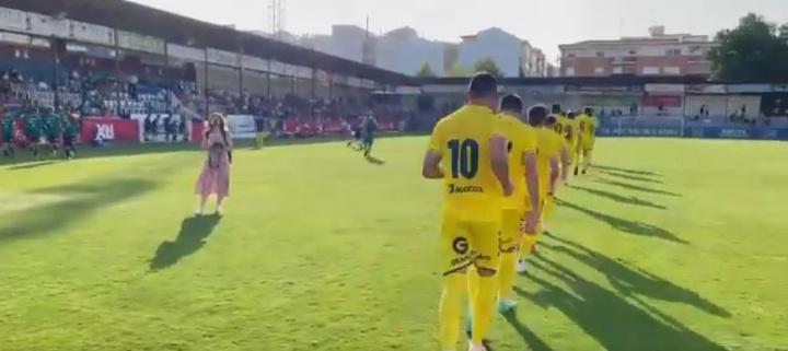 Empate en el tercer test veraniego del UCAM Murcia (1-1). Twitter/UCAMMurciaCF