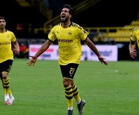 Emre Can's sole goal keeps Dortmund second . Twitter/BVB
