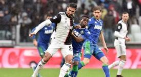 La Juventus pareggia contro il Sassuolo. Twitter/JuventusFC