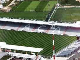 En el estadio del Ajaccio, el François-Coty, debería haberse disputado el encuentro, pero un temporal en Córcerga no lo ha permitido. Twitter