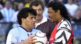 Maradona estuvo a punto de recalar en Colombia, antes de dar el salto a Europa. EFE/Infosic