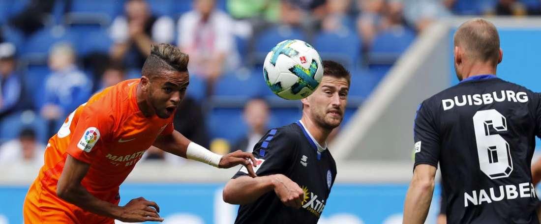 El Málaga no pudo con el Duisburg. MálagaCF