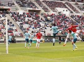 El Real Murcia se ha hecho con los tres puntos en su feudo. RealMurciaCFSAD