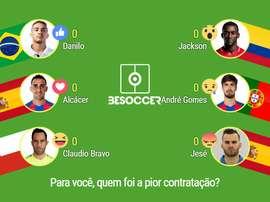 Danilo, Alcácer, Caludio Bravo, Jackson, André Gomes ou Jesé... BeSoccer