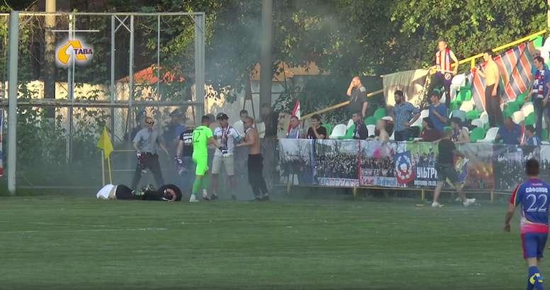 Violencia en el fútbol ucraniano. Youtube
