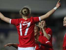 England footballer Ellen White returns to the squad for the European Championship qualifiers. Twitter