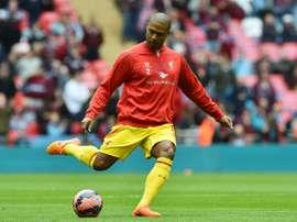 England international fullback Glen Johnson, pictured on April 19, 2015, joins Stoke City on a free transfer