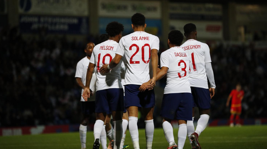 Dominic Calvert-Lewin netted two goals for England U21s. Twitter/England