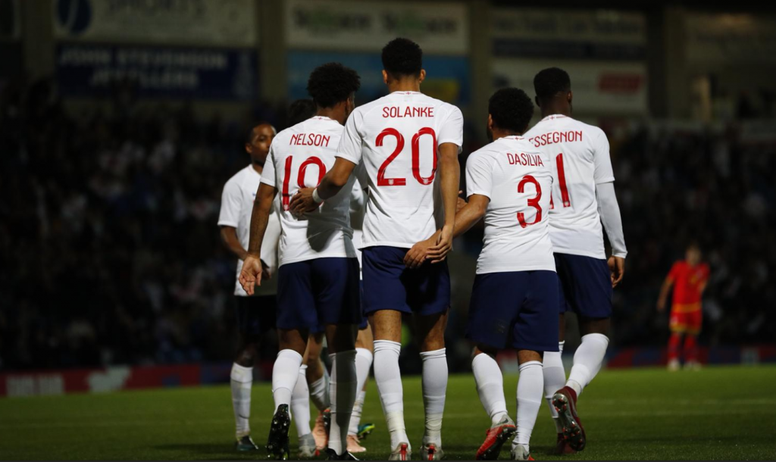 Pin Dominic Calvert-Lewin netted two goals for England U21s. Twitter England 1c2522d75216d