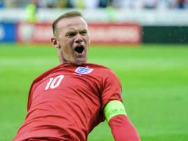 England Wayne Rooney, pictured on June 14, 2015, acknowledged a Major League Soccer swansong would be considered when the time came to wind down his career in the Premier League