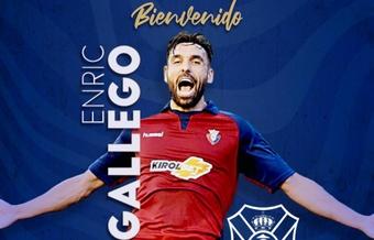 Enric Gallego, nuevo jugador del Tenerife. Twitter/CDTOficial